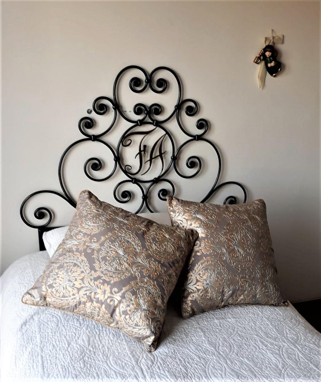 letto singolo ferro battuto
